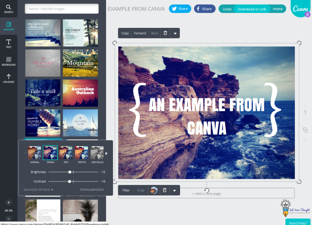 use canva for  making book cover